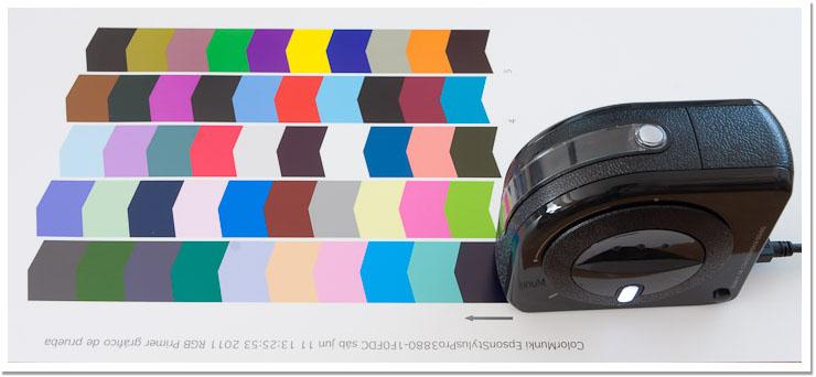 Y ahora toca el divertido proceso de leer muestras con el Colormunki