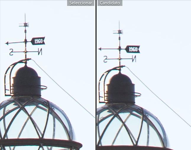 Izquierda - Espejo levantado is off - Derecha - Espejo no levantado IS ON