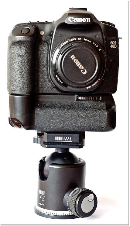 Canon 40D sobre Rótula Arca-Swiss Z1