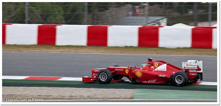 Fernando Alonso - Entranamientos de la Fórmula 1 en Barcelona 2012