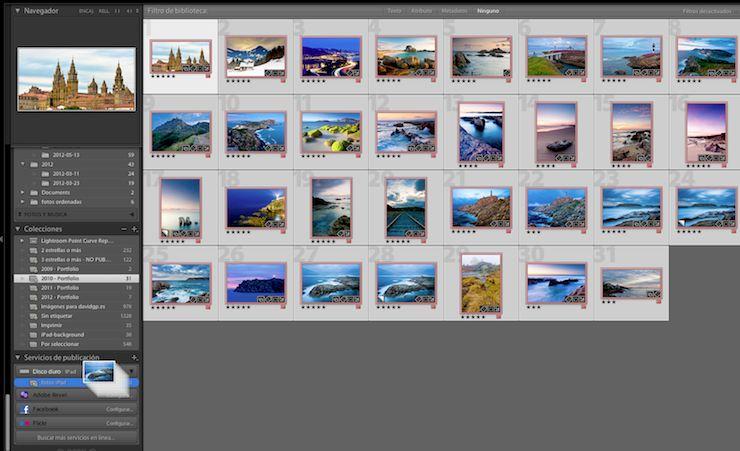 Añadiendo fotos al nuevo servicio de publicación