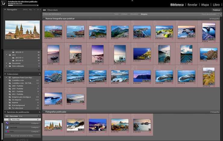 Parte de las fotos ya exportadas al disco duro
