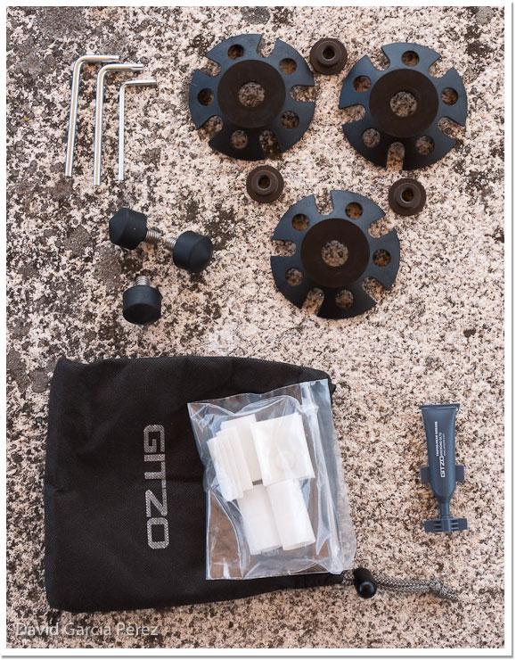 Accesorios que vienen con el Gitzo GT3542XLS