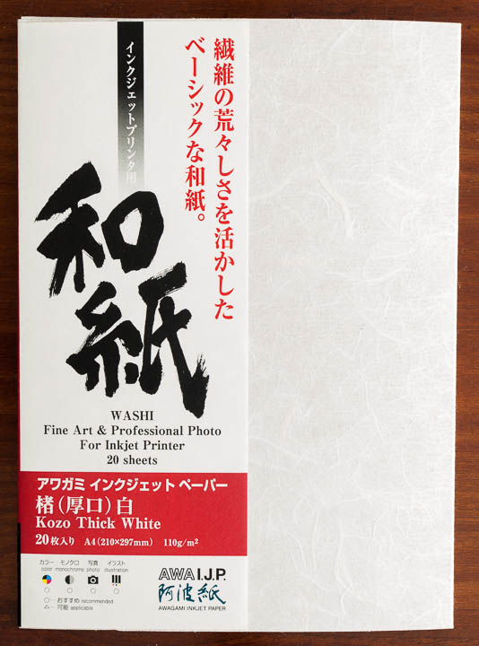 Awagami Kozo Thick White - caja