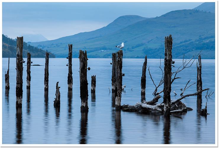 viejo embarcadero en Loch Tay