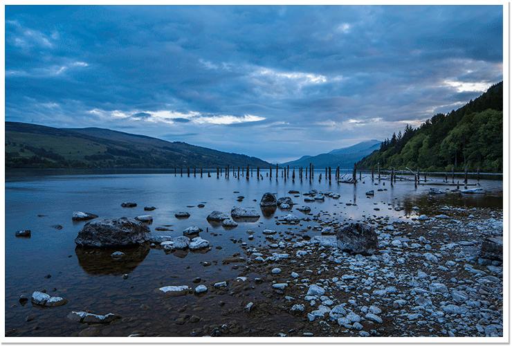 Anochece en Loch Tay