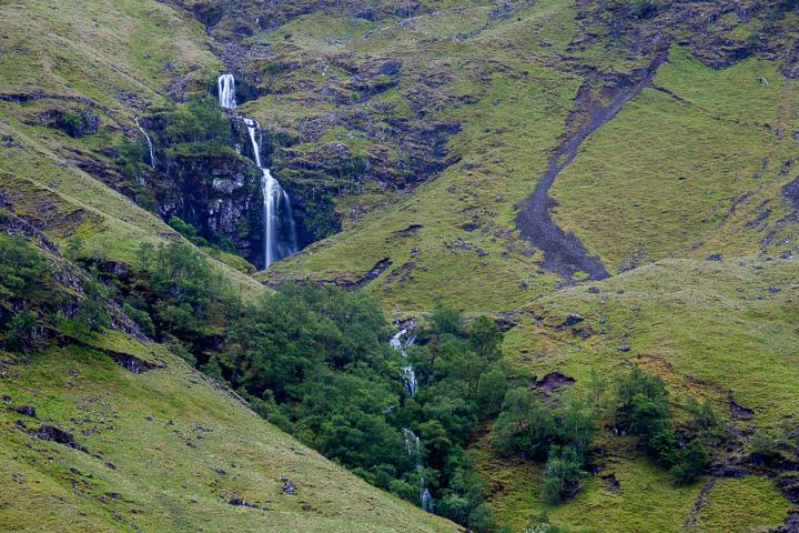 Cascadas en Glen Coe