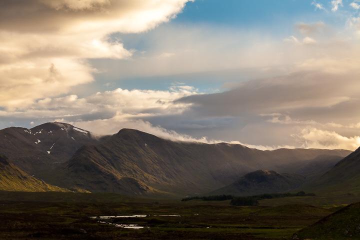 Puesta de Sol hacia Loch Etive