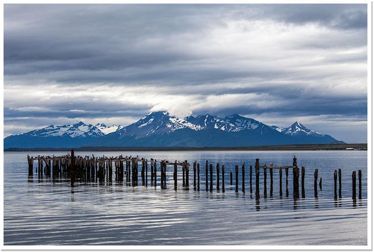 Anochece en Puerto Natales
