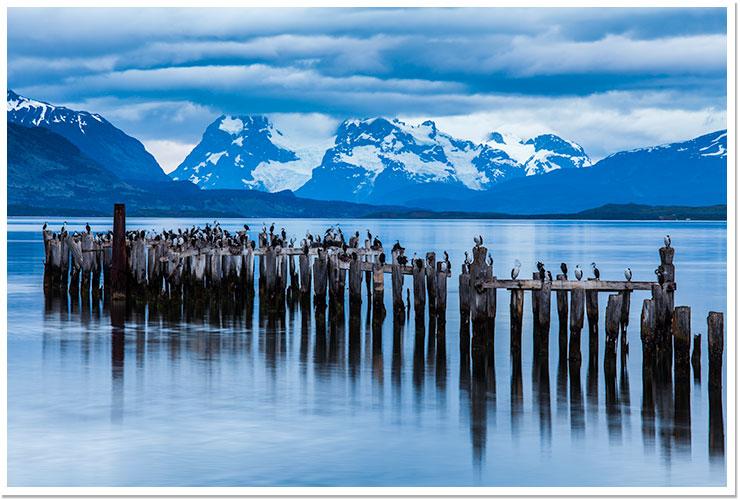 Amanece en Puerto Natales.