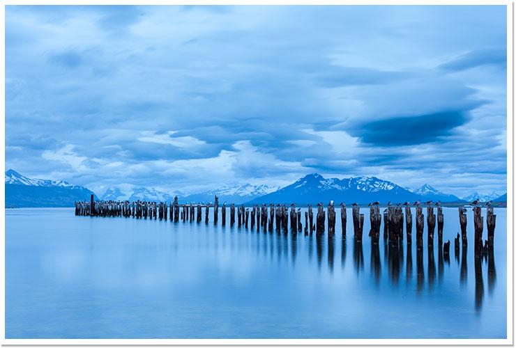 La lluvía llega a Puerto Natales