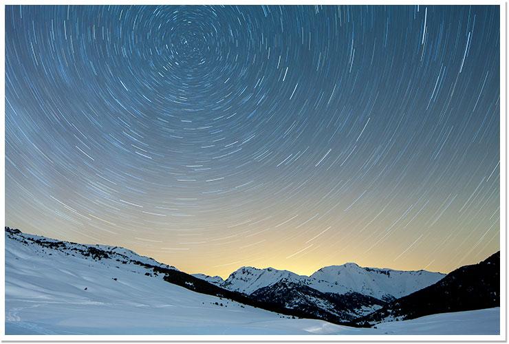 Noche de invierno en Val d'Aran