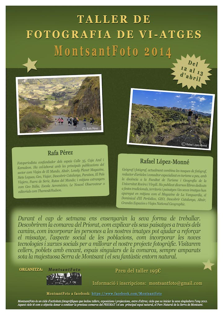 Cartel del MontsantFoto 2014