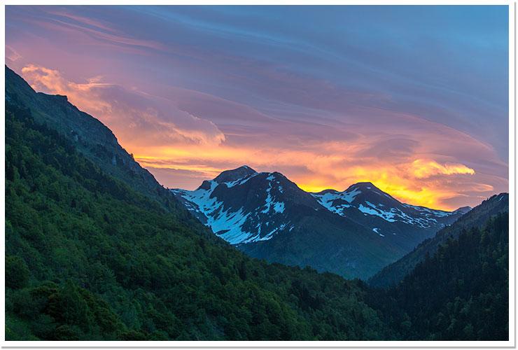 Amanecer en Val d'Arán