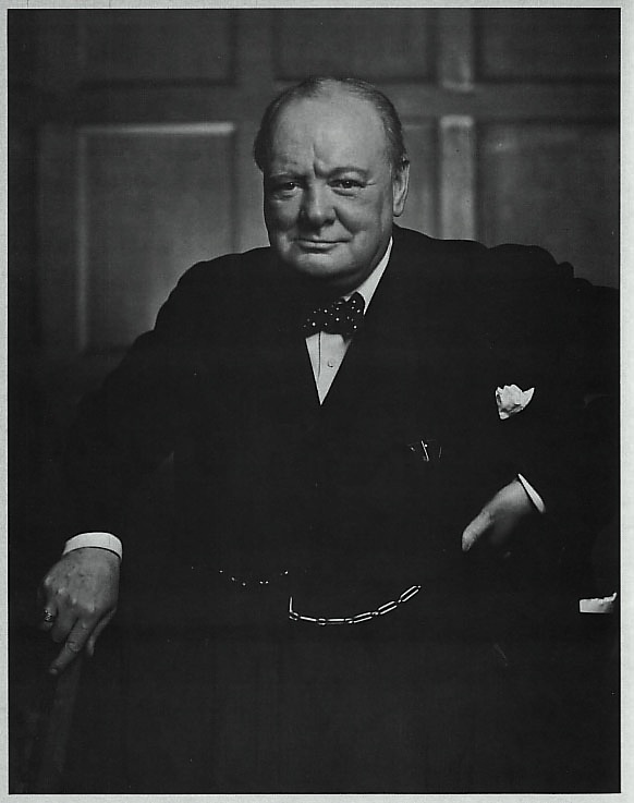 Segundo retrato de Churchill por Yousuf Karsh