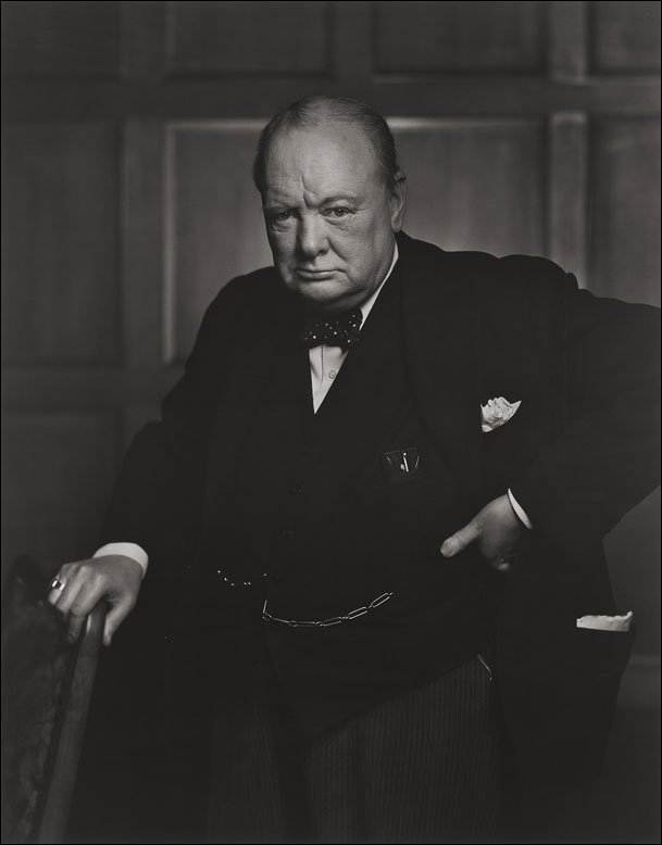 Wiston Churchill por Yousuf Karsh