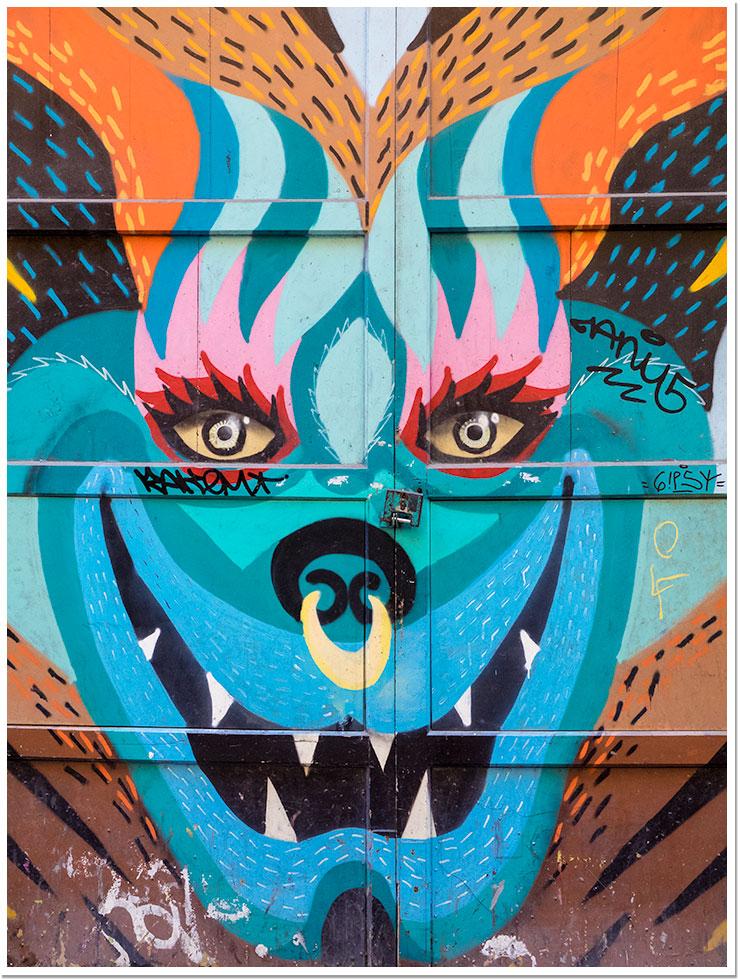 Graffiti en la puerta