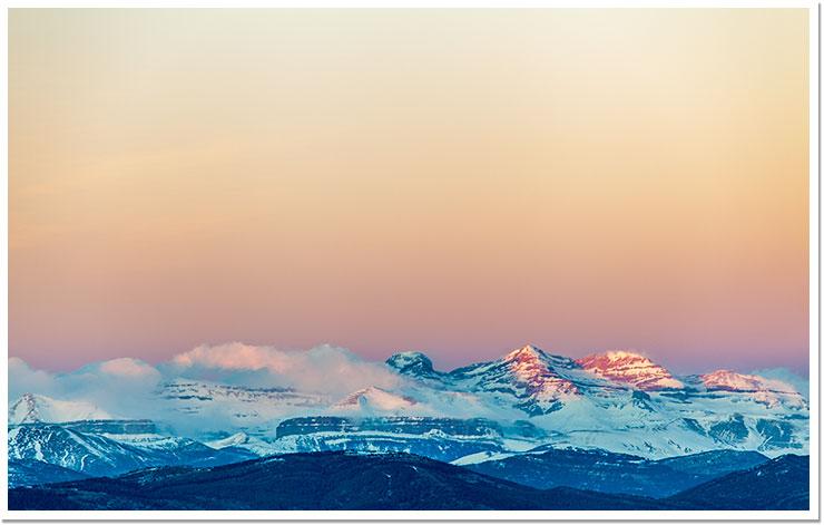 Anochece en los Pirineos