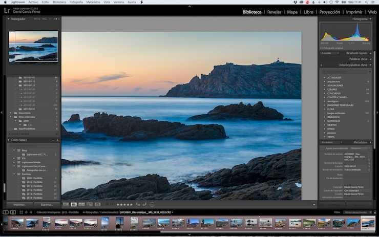 Modo Lupa de Lightroom con zoom 1:4.