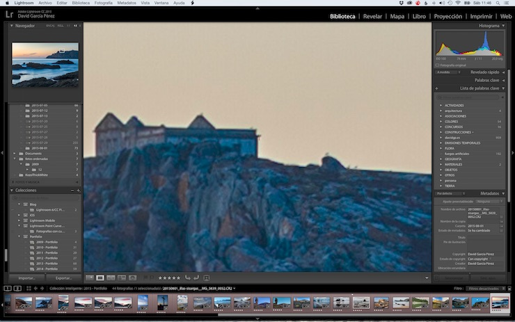 Modo Lupa de Lightroom con zoom 4:1