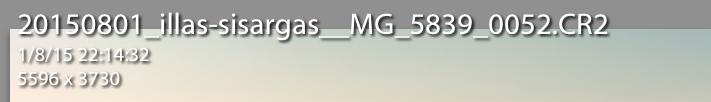 Información de imagen en modo Lupa o Revelar - Segunda información por defecto que muestra Lightroom.