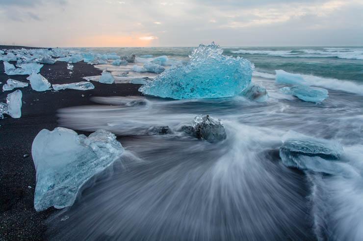 Estelas en el hielo