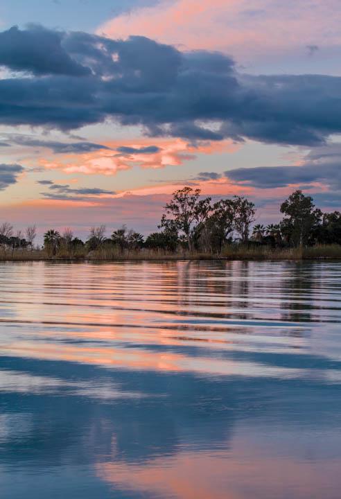 Amanece en la desembocadura del Ebro