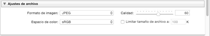 Formato de fichero a exportar