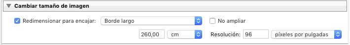 Seleccionando el tamaño del archivo
