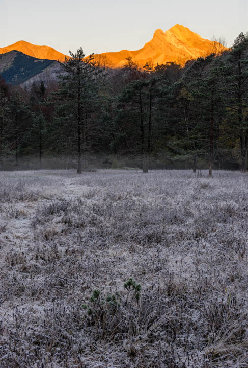 Frío amanecer en Ordesa