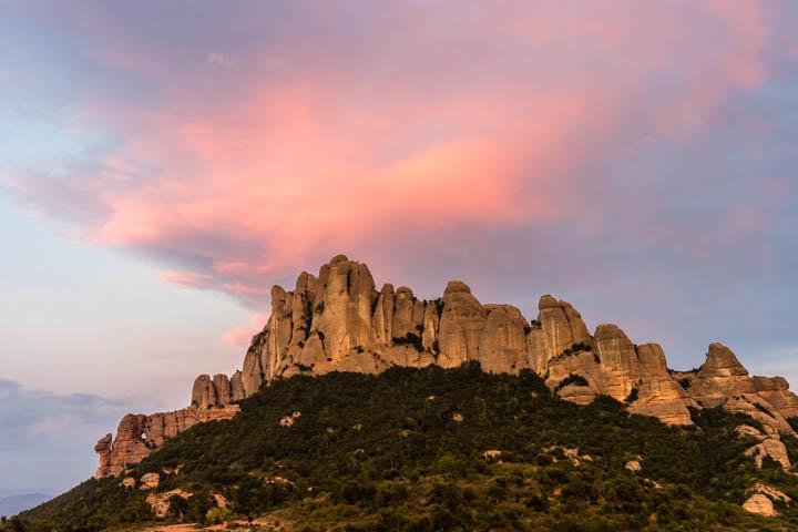 Atardecer en Montserrat